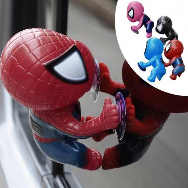 2 di colore Spider Man Giocattolo Arrampicata Spiderman Modello Window Sucker per Spider-Man Bambola Auto Decorazione di Interni di Casa