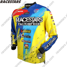 RACESTARS Motocross Moto Jersey mountain bike clothing MTB bicycle T-shirt DH MX Bicycle shirts Offroad Cross Cycling Jersey cheap Polyester Full Unisex RACESTARS - Motocross Jersey Spring summer AUTUMN Winter No Zipper Fits larger than usual Please check this store s sizing info