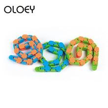 Fidgets-Toys Tracks Chain-Track-Pressure Snap Tangles Sensory Tiys Puzzle 24-Bicycle