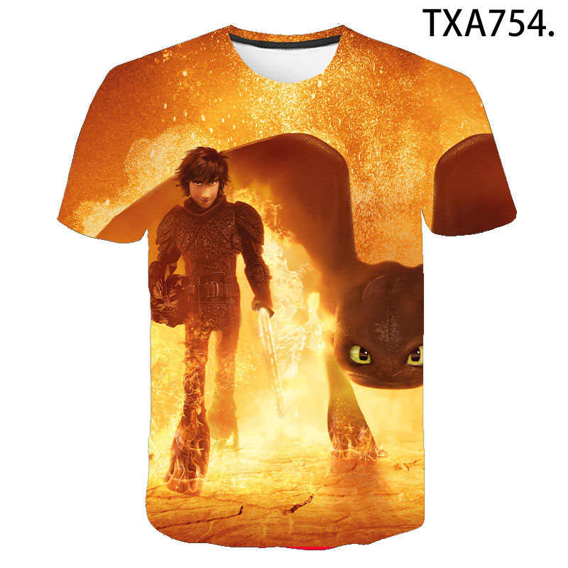 Pocket Tandeloze T-shirt Mannen Vrouwen Kinderen Tops Hoe Tem Je Draak Dier Tee 3D Print T-shirt Zomer Jongen meisje Kids Tee