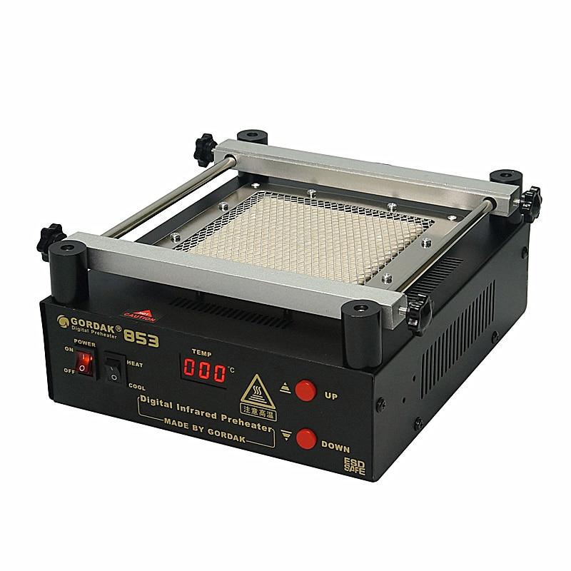 Gordak 853 Infrared BGA Rework Soldering Station Hot Air Heat Gun Preheating Desoldering Station For Phone PCB IC SMD Welding