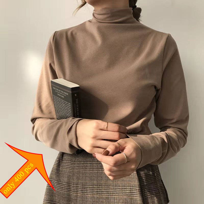 2019 Women Sweater Femme Autumn Turtleneck Sweater Long Sleeve Women White Sweater Jumper Pullovers Tricot Pull Femme