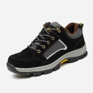Image 5 - גברים בטיחות בעבודת כובע הבוהן פלדה של גברים בלתי ניתן להריסה בטיחות נעליים קל משקל תעשייתי בנייה נעל Mens חורף מגפיים