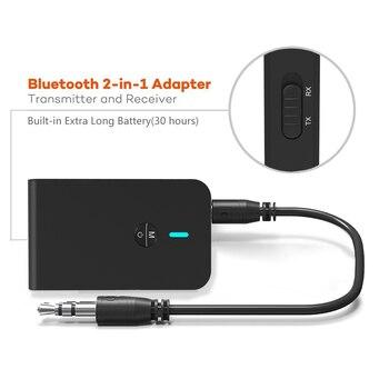 AptX Bluetooth Transmitter Receiver 2 in 1 Wireless Audio Adapter Low Latency 5.0 for Car TV Headphone Speaker 3.5MM Aux Jack