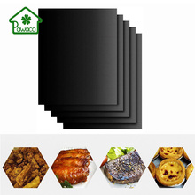 Reusable Non-stick BBQ Grill Net Glassfiber Baking Pad For Oven Microwave Outdoor Picnic FDA Heat Resistance Cooking BBQ Mat цена и фото
