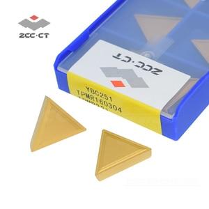 Image 2 - 10 adet ZCC freze kesicisi ekleme TPMR160304 YBC251 ZCCCT karbür cnc makinesi aracı ucu TPMR 160304 TPMR321 çelik