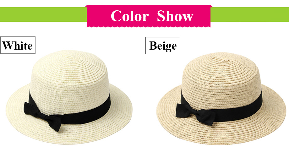 Summer Women Hat Beach Straw Hat Panama Ladies Cap Fashionable Handmade Casual Flat Brim Bowknot Sun Hats for Women 2020