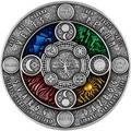 Прямая поставка КОПИЯ монета супер красивая Ниуэ 2020 древний календарь 4 цириллический календарь 2 унции Высокая рельефная Серебряная монет...