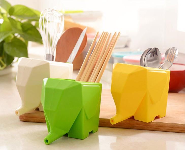 1PC Creative Multi-functional Kitchen Storage Organizer Holder Rack For Chopsticks Tableware Toothbrush Drainer Bathroom KX 010