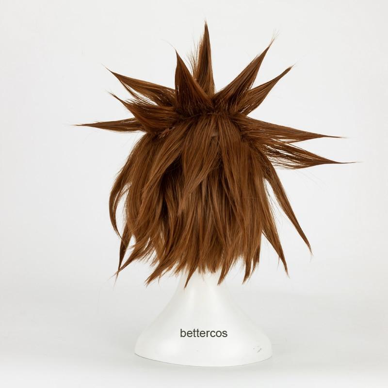 Wig Cap KINGDOM HEARTS 3 Sora Wigs Short Brown Heat Resistant Anime Cosplay Wig