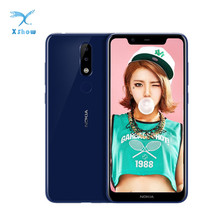 נוקיה X5 Smartphone אנדרואיד 9 4GB 64GB 5.86 אינץ Helio P60 אנדרואיד 8 3060mAh מול 8MP אחורי 13MP + 5MP טביעת אצבע טלפון נייד