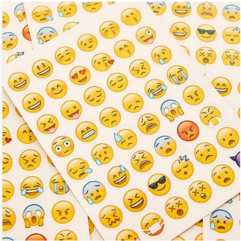 12pcs/lot Free Shipping Hot Sale Emoji Facial Stickers Mobile Chat Expression Sticker Mini Emoticons Diy Scrapbook Stickers