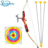 1set Archery Shooting Kids Bow and Arrow Toy Kit With Arrows and Targets For Children Youth Archery Hunting Shooting Kids Bow