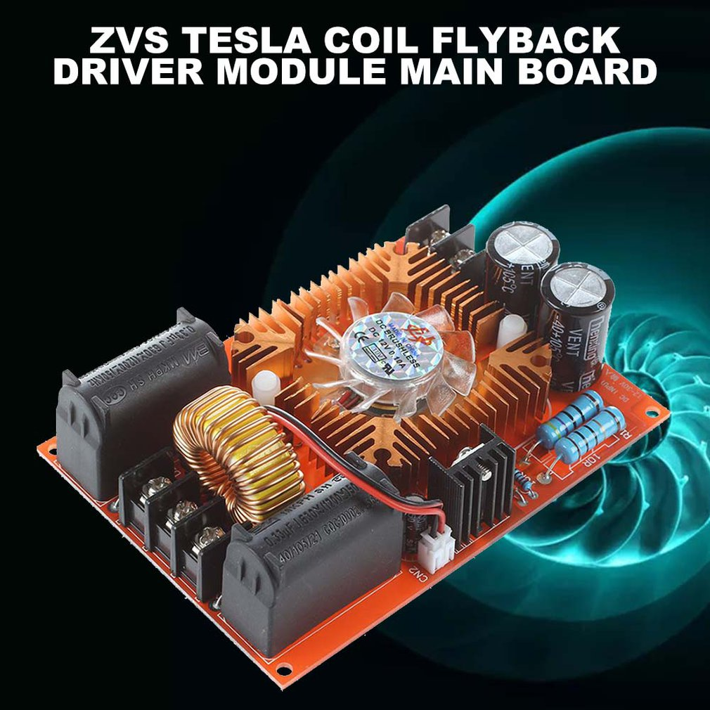 ZVS Tesla Coils Flyback Driver Motherboard Induction Heating Board Power Module Heater With Ignition Coil FR4 Glass Fiber Board
