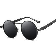 Retro okrągłe okulary mężczyźni kobiety marka projektant Punk Style wiatroszczelna metalowa rama Vintage okulary óculos De Sol tanie tanio ZXRCYYL WOMEN Dla dorosłych ALLOY Lustro UV400 51mm 66mm