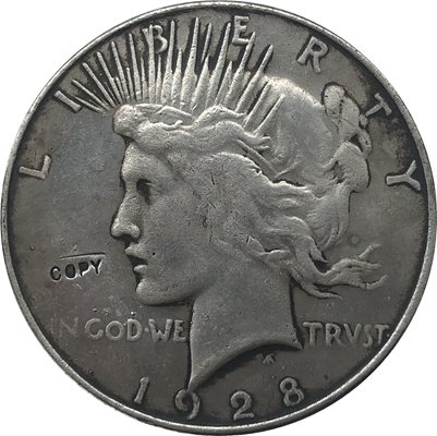 1928-S мира долларовая Монета КОПИЯ
