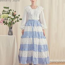 Повседневное кружевное платье принцессы Лолиты в стиле ретро