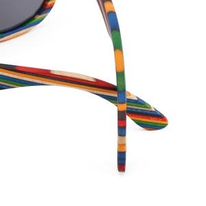 Image 5 - רטרו בעבודת יד בצבע עץ מסגרת משקפי שמש מקוטב נשים גברים צבעים שמש משקפיים חוף אנטי Uv משקפיים לנהיגה