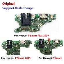 Oryginalny nowy Port ładowania USB złącze pokładzie Flex Cable z mikrofonem części telefonu komórkowego dla Huawei P Smart Plus 2019