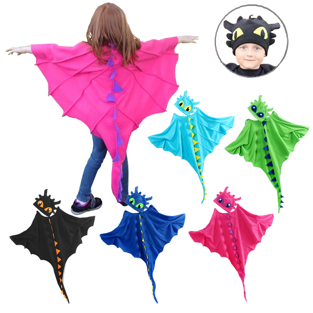 Dragon Costume Cloak Anime with Hat Toothless Dinosaur