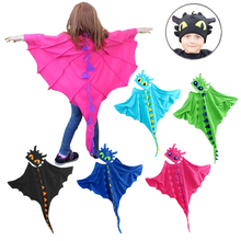 Dragon Costume Cloak with Hat Toothless Dragon Costume Cape Anime Cosplay Costumes Dinosaur Costume