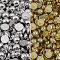 Полукруглые жемчужные бусины разных цветов, серебристые, золотистые бусины с плоской задней стороной, 2 мм, 3 мм, 4 мм, 5, 6, 8 мм, модные украшени...