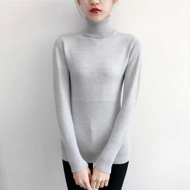 겨울 의류 여성 스웨터 터틀넥 풀오버 캐주얼 점퍼 숙녀 당겨 Femme 따뜻한 바닥 스웨터 Hiver 7