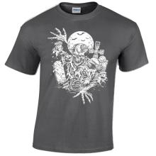 Zombie Mens T-Shirt Tomb Grave Zombies Halloween Goth Rock Punk Horror Gift for Male Short Sleeves T Shirt
