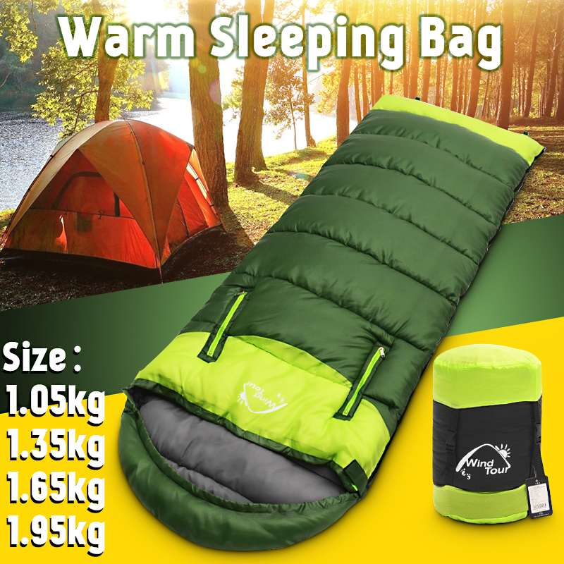 Wind Tour Sleeping Bag Thick and Warm For Cold winter Outdoor Camping 1.3kg