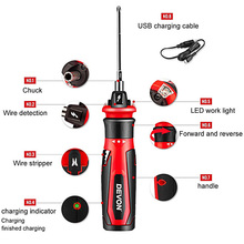 цена на Cordless Electric Screwdriver Set Rechargeable Lithium-ion LED Household Multi-function Screw Driver Mini Batch Hand Power Tool