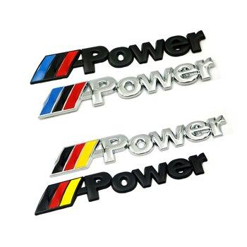 цена на 1 Pcs New car sticker 3D metal power for BMW M E30 E36 E60 E46 E90 E71 E87 F30 F10 F20 X1 X3 X4 X5 X6 Auto Accessories
