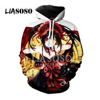LIASOSO 3D Print Anime Sweatshirt Hoodie Date A Live Yatogami Tohka Tokisaki Kurumi Man Women Hoodies  Casual Harajuku Clothes 1