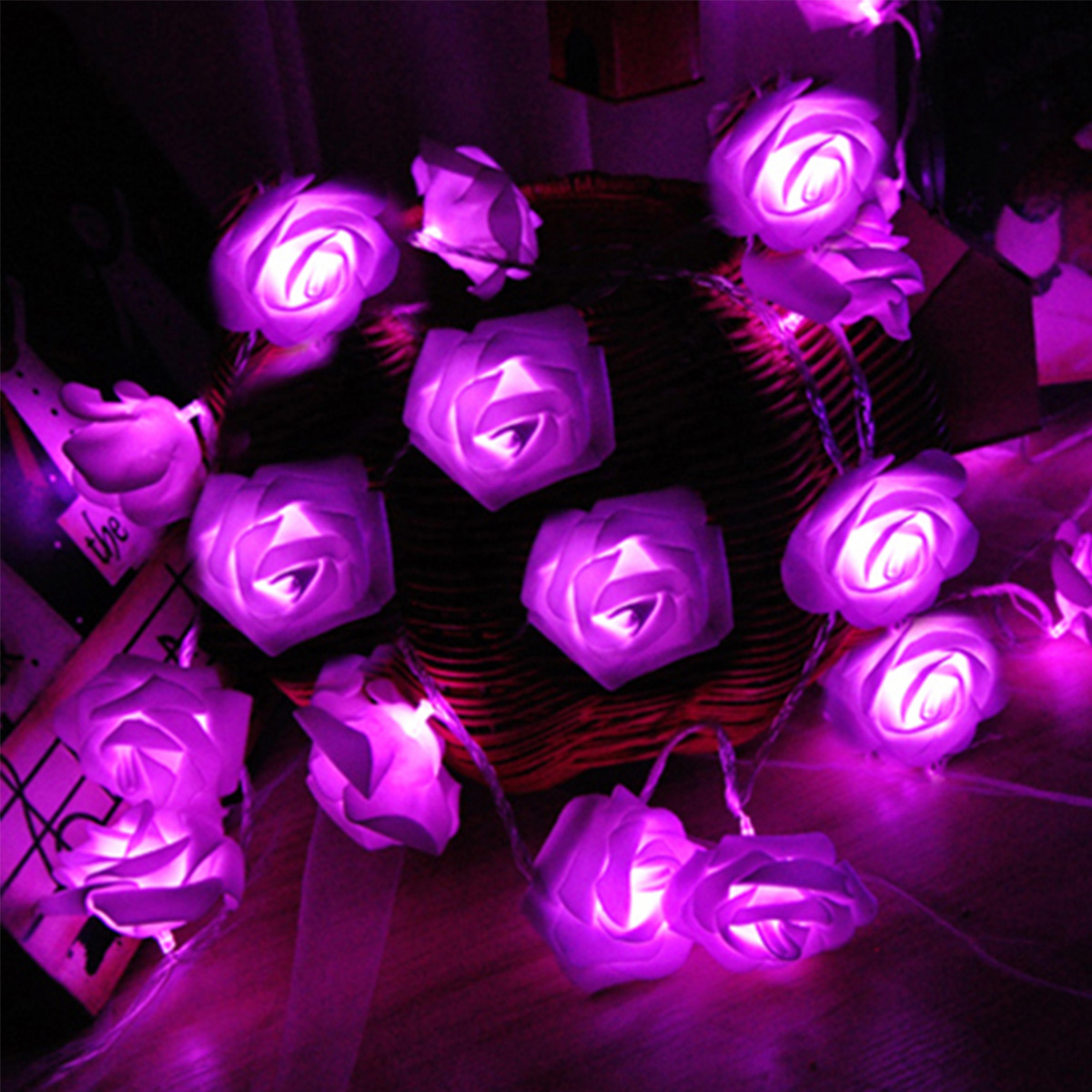 10/20 LED Lamp Roses Shaped Decorative Light Rose Flower String Lights For Living Room Bedroom Girl'S Favorite Style Dropship