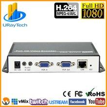 URay H.264 VGA+ стерео аудио в IP поток кодировщик IPTV прямой потоковый кодировщик поддержка HTTP, RTSP, RTMP, UDP, ONVIF
