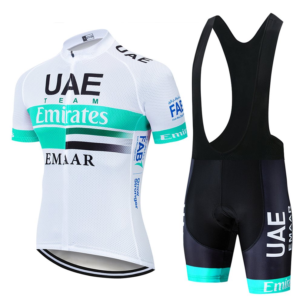2019 TEAM UAE PRO Cycling Jersey 9D Gel Bike Shorts Suit MTB Ropa Ciclismo Mens Summer Bicycling Maillot Culotte Clothing