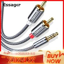 Essager RCA кабель 3,5 мм Джек 2 RCA Aux кабель 3,5 мм до 2RCA адаптер разветвитель аудио кабель для ТВ коробка дома Театр Динамик провода