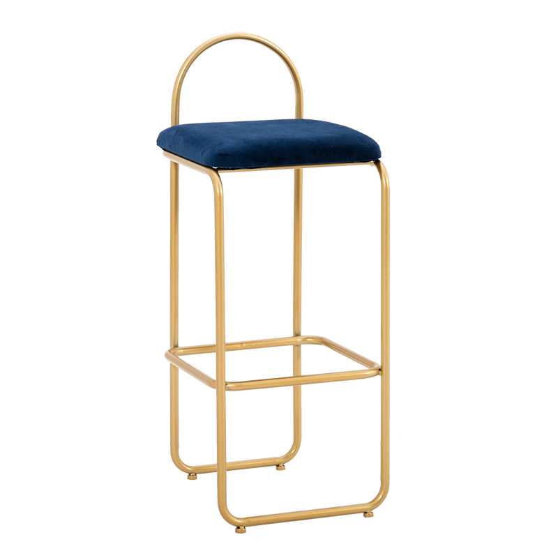 Nordic Bar Chair Modern Compact Light Luxury High-legged Stool Backrest Chair Metal Iron Artists Creative Personality Bar Chair
