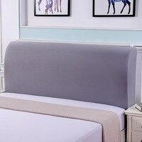 Elastische Bed Cover Europese All-Inclusive Effen Kleur Bed Hoofd Terug Bescherming Stofkap Plain Soft Hoofdeinde Cover