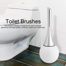 Banyo tuvalet fırçalama temizleme fırçası tutucu seti paslanmaz çelik taban tuvalet fırçası/tutucu banyo aracı