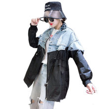 Autumn Cowboy Jacket Woman FashionSplicing Befree Harajuku Chaqueta Mujer Riverdale And Jackets Streetwear Bts Coats(China)