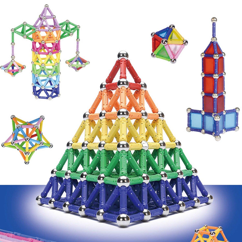 350 pçs engraçado magnético blocos de construção varas conjunto brinquedo educativo para crianças meninos meninas aniversário presente natal|Magnético|   -