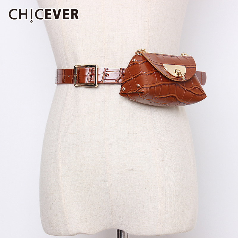 CHICEVER PU Leather Belt Female High Waist Tunic Clothing Accessories Adjustable Designer Belts Women High Quality 2020 Autumn