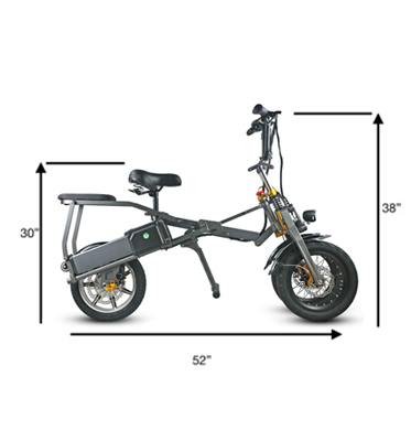 JX003 3 Wheel Electric Scooter E Bike Bicycle foldable High Speed Electric Tricycle with 2 pcs battery 350W Powerful  for Adult 10
