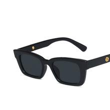 Nowe okulary damskie okulary przeciwsłoneczne metalowy zawias małe pudełko uliczne strzelanie puste Retro damskie okulary tanie tanio yueyaolao CN (pochodzenie) WOMEN Z żywicy SQUARE Dla osób dorosłych Z poliwęglanu NONE UV400 33mm 47mm