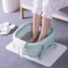 Складная Ванна для ног портативная ванна для мытья ног массажное ведро для путешествий складное ведро с 4 массажные шары для купания ног зимой