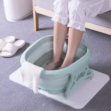 Folding Foot Tub Portable Foot Wash Tub Massage Bucket Travel Folding Bucket with 4 Massage Balls Bathing Feet in Winter 2019(China)