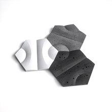 Creative concrete wall brick silicone mold hexagon cement wa