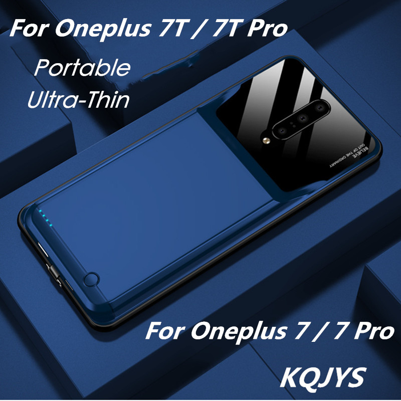 KQJYS 10000mAh UltraThin Mobile Battery Charger Case for OnePlus 7 /7 Pro Portable Power Charging Case for OnePlus 7T/7T Pro