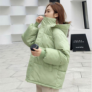 New Arrival Female Winter Cotton Padded Coat Warm Thick Puffer Jacket Women Bubble Casual Spray-bonded Wadding Zipper