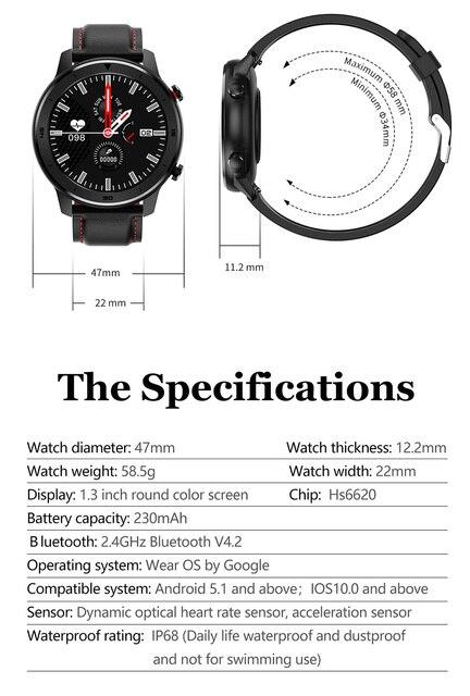FocuSmart 2020 inteligentny zegarek mężczyźni opaska monitorująca aktywność fizyczną urządzenia przenośne IP68 Smartwatch kobiety tętno inteligentny zegarek mężczyźni VS DT98 L8 L5